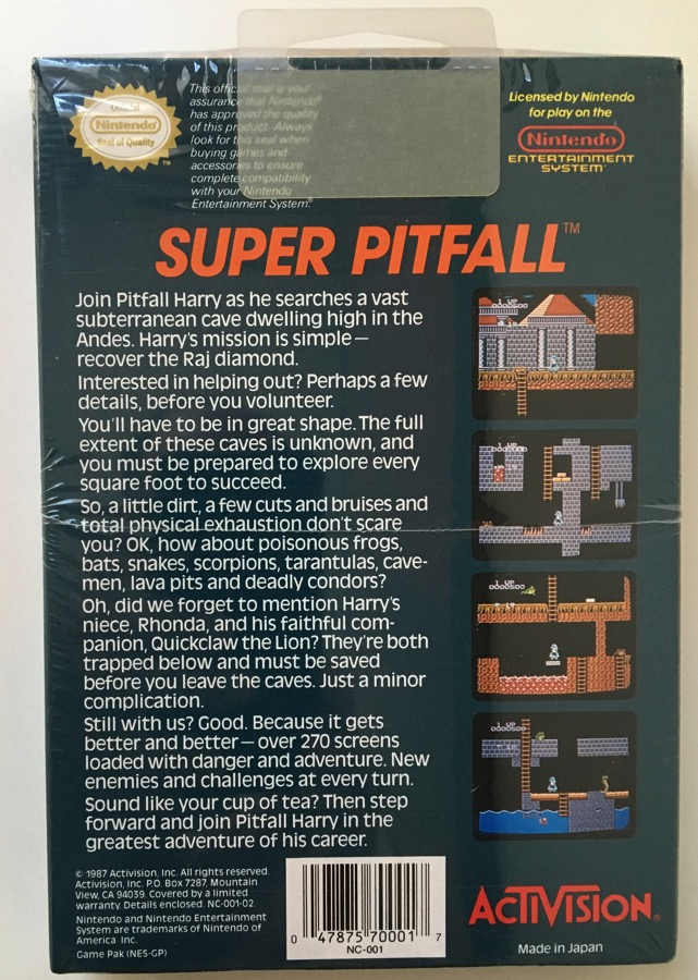 Nes Super Pitfall