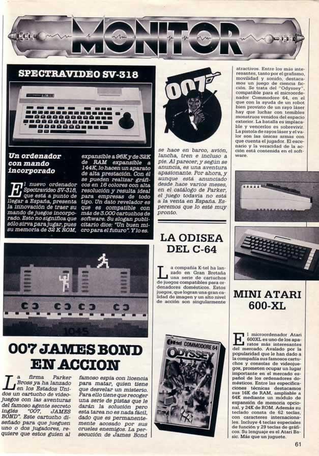 Reseña del juego 007 Octopussy en la revista Super Juegos