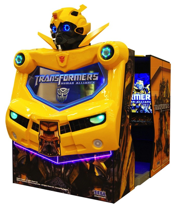 Transformers en máquina recreativa