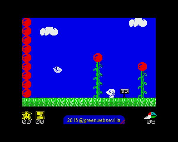 Pantalla Fantasy Zone ZX Spectrum