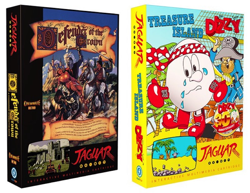 Defender of the Crown y Treasure Island Dizzy para Jaguar