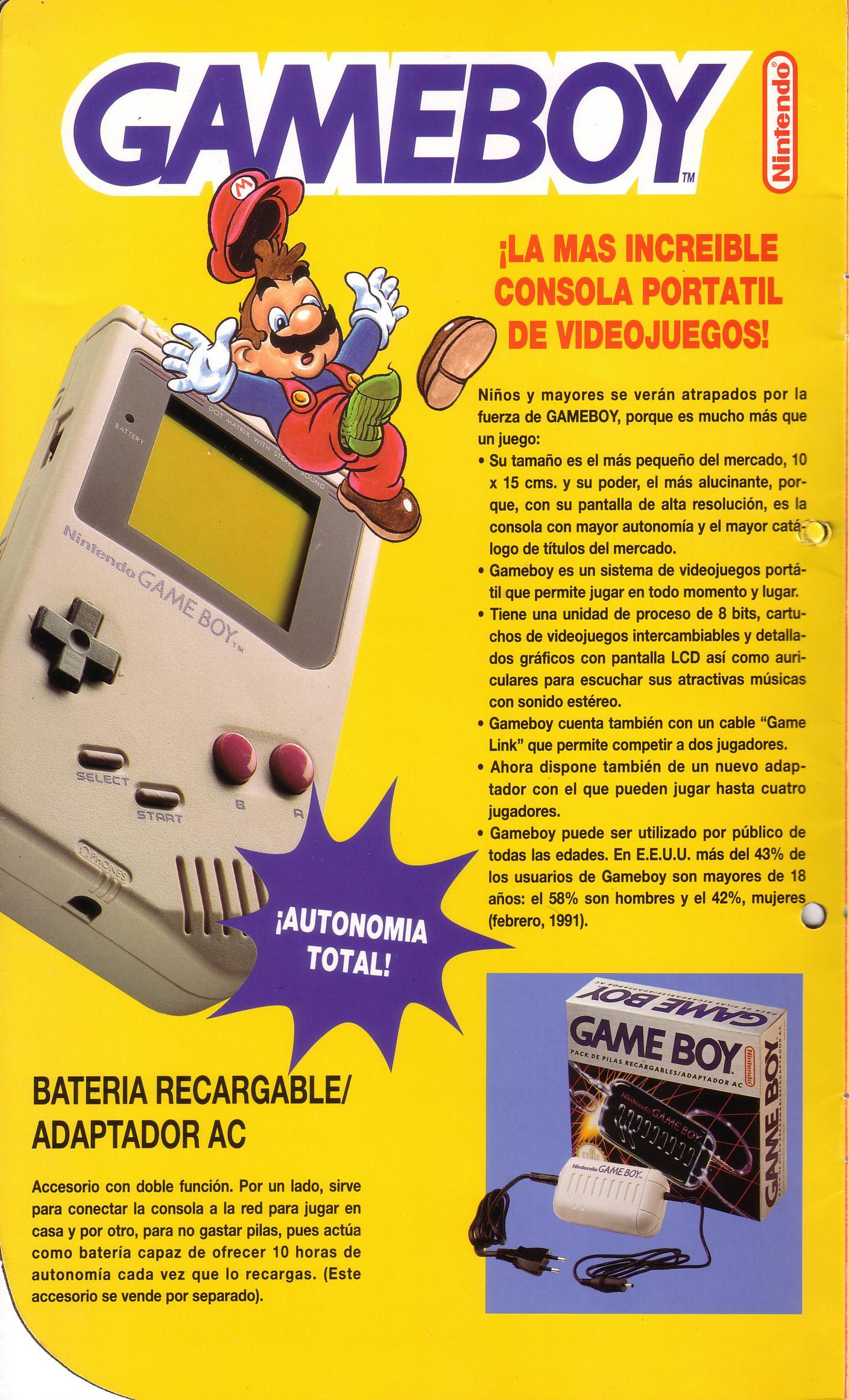 Publicidad de erbe para distribuidores lanzamiento game boy for Como buscar distribuidores