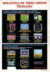 Publicidad Microfichas Ninbtendo NES