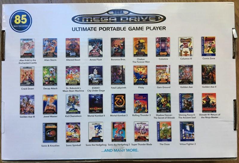 Sega Mega Drive Arcade Portable 2018