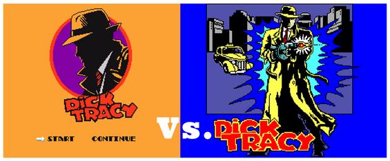 Dick Tracy NES Vs Dick Tracy Master System