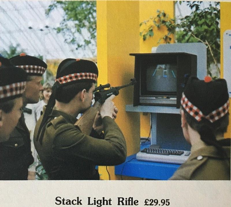 Anuncio del rifle de C64
