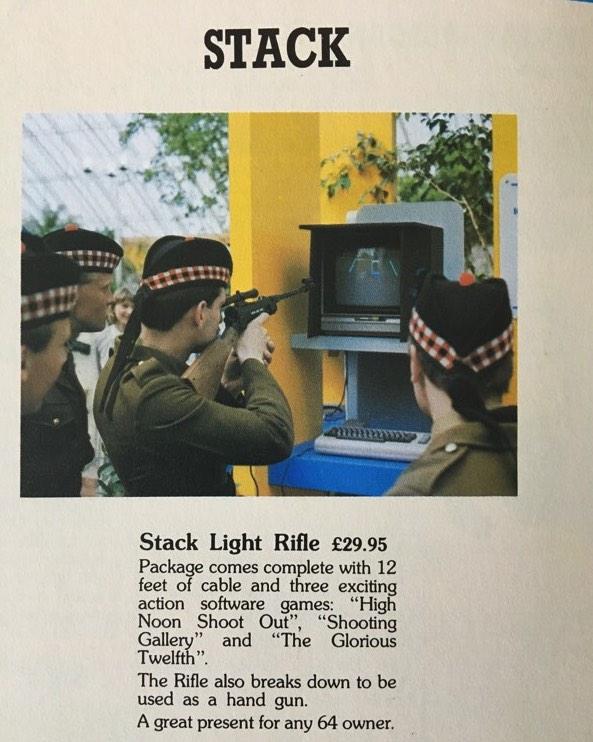 Anuncio de Stack para C64