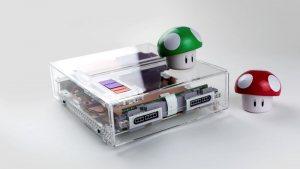 Super Nintendo reconstruida transparente. Una nueva obra de arte de Rose Colored Gaming