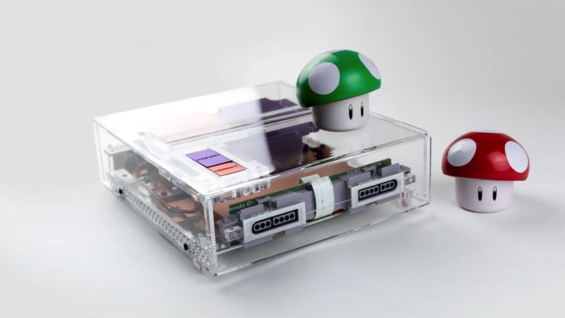 Carcasa Super Nintendo Transparente