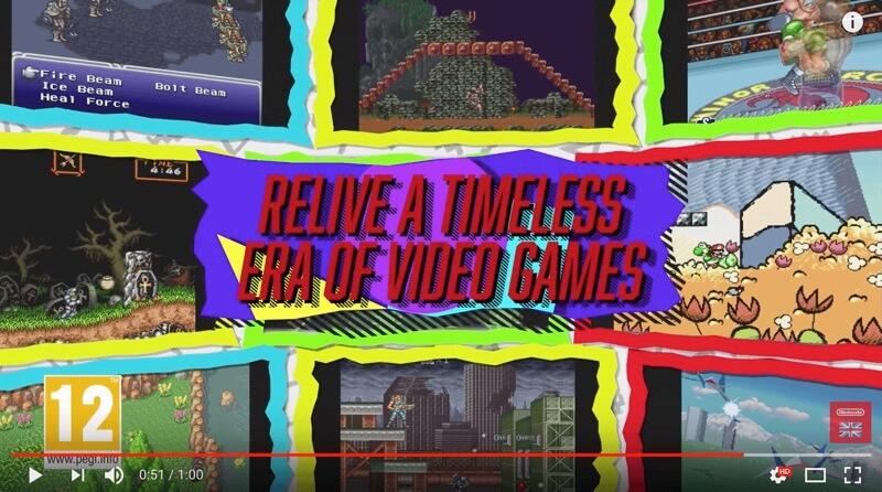 imagen del video lanzamiento de la Super Nintendo classic mini