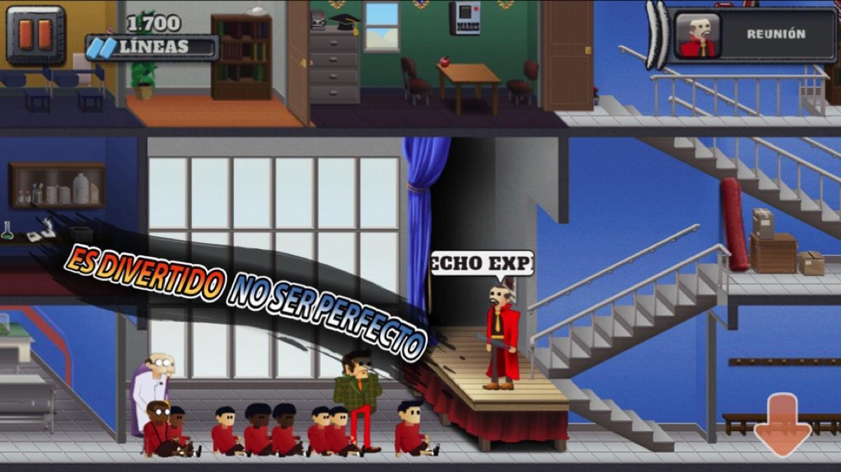 Pantalla del remake de Skool Daze para iOS