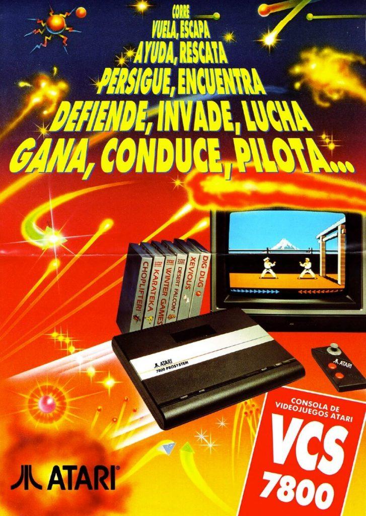 Publicidad Española Atari 7800