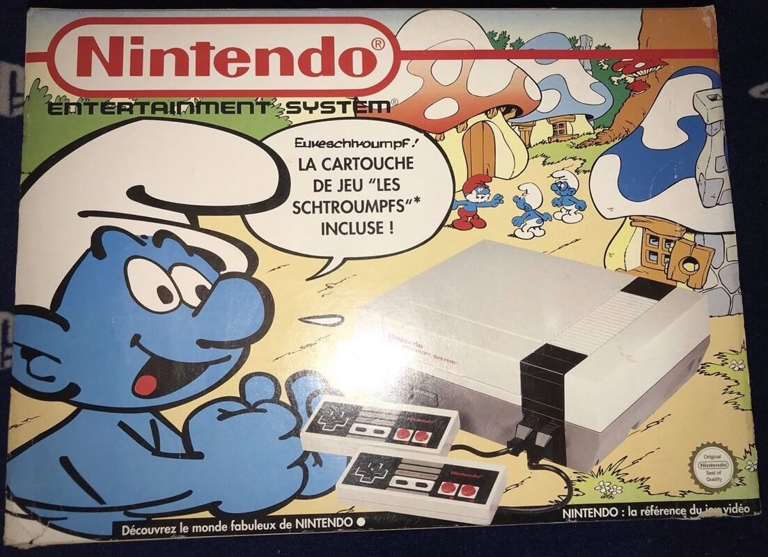 Nintendo NES de los pitufos