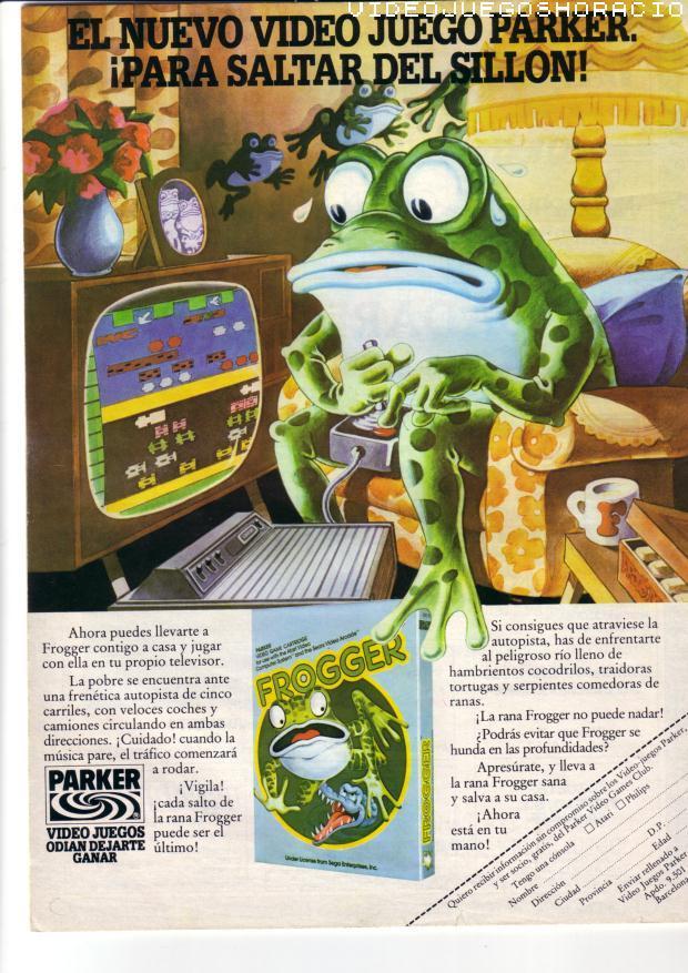 Anuncio Parker Frogger