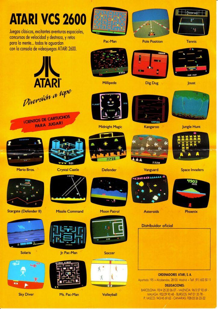 Catálogo Español Atari 2600 año 1991