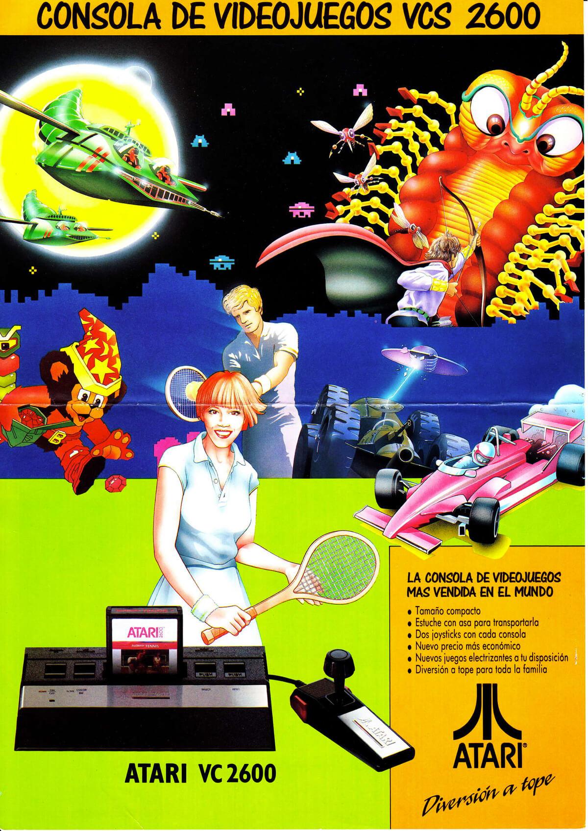 Publicidad Española Atari 2600 año 1991