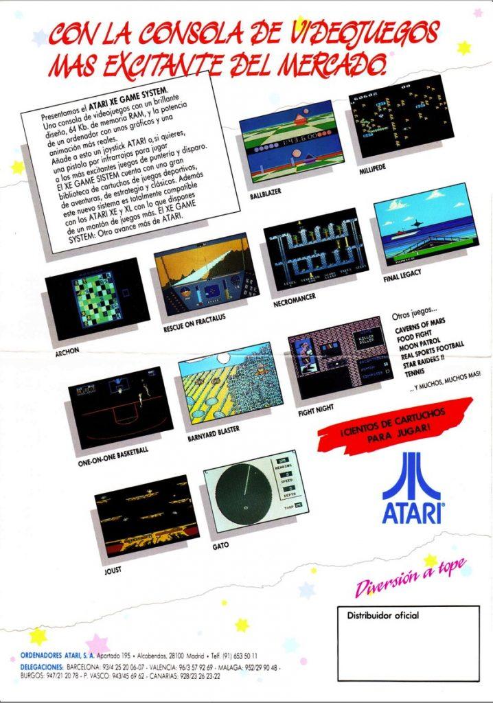 Catálogo de juegos Atari XE