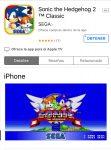Sonic 2 gratis para iOS