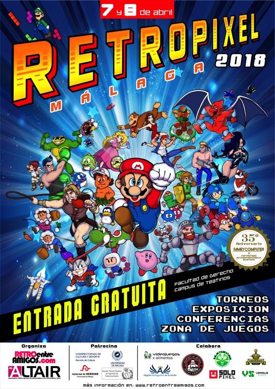 Cartel retropixel 2018