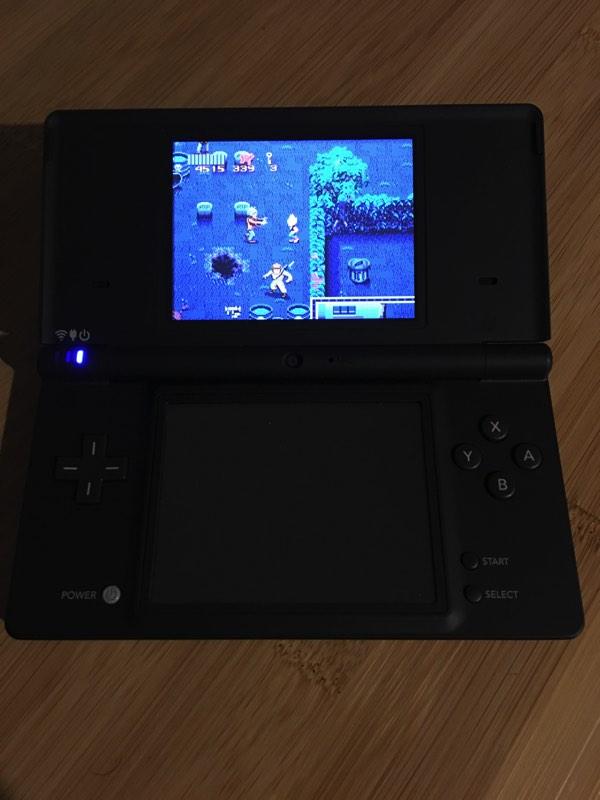 El juego en el emulador de Nintendo DS